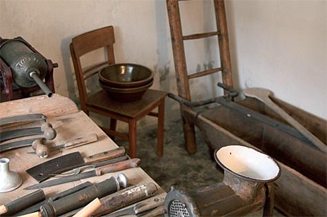 Werkzeuge zur Hausschlachtung